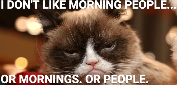 I hate morning people...