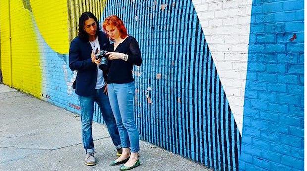 Navid with Katya Nichols (photographer) in NYC